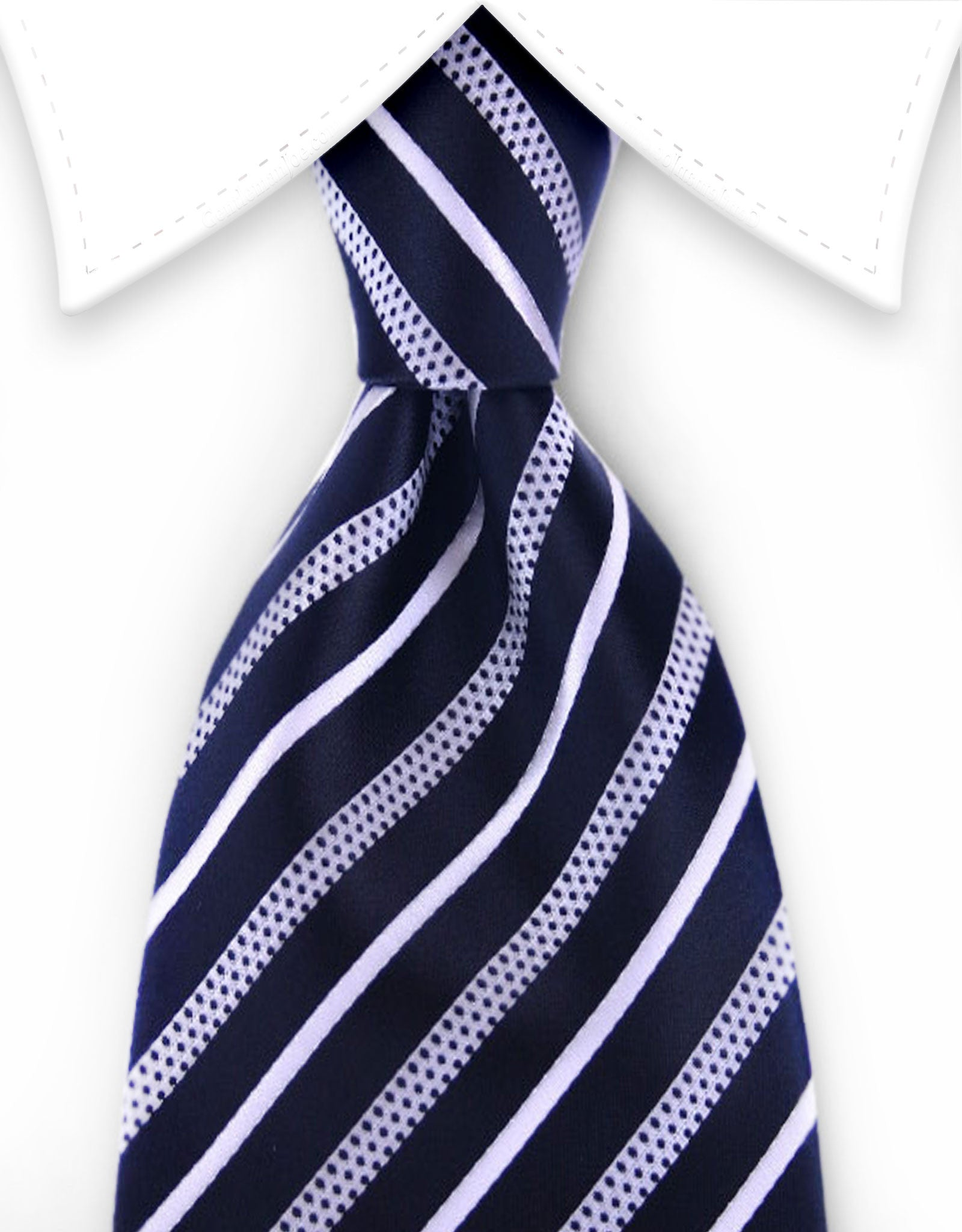 Black and white necktie