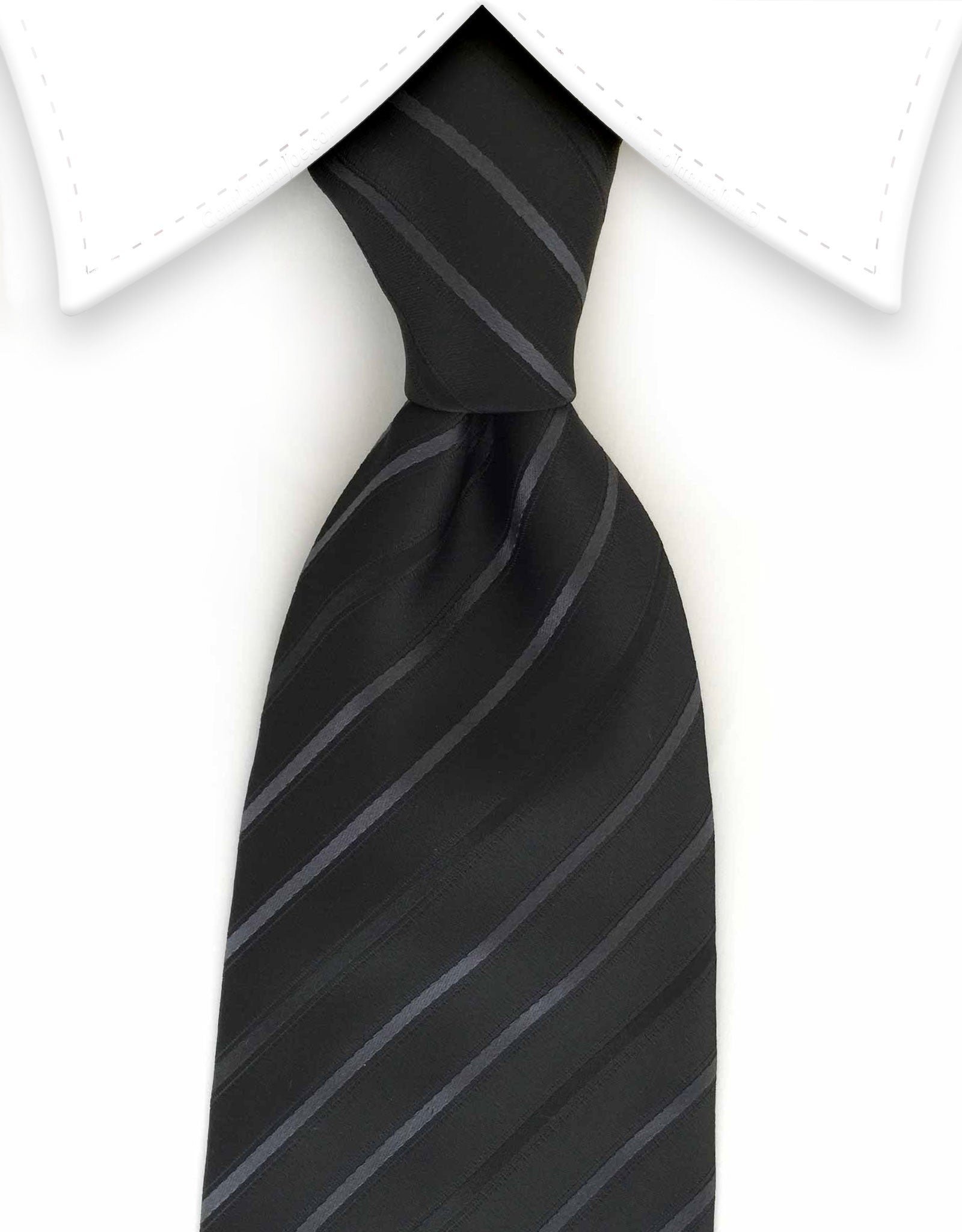 Black and gray striped tie