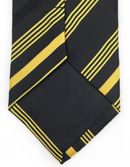 tip of black yellow gold tie