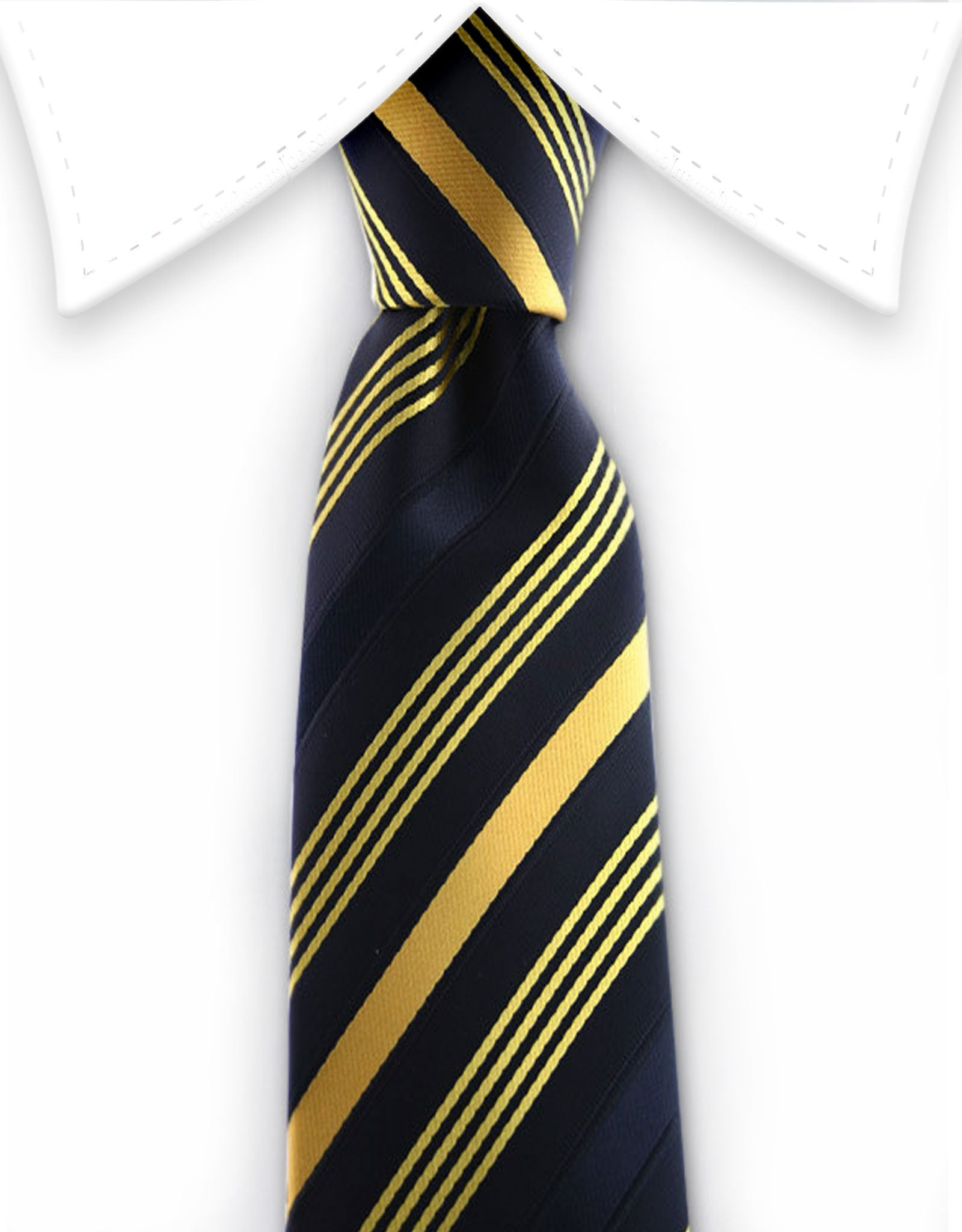 black and yellow gold skinny tie