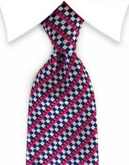 pink and blue necktie