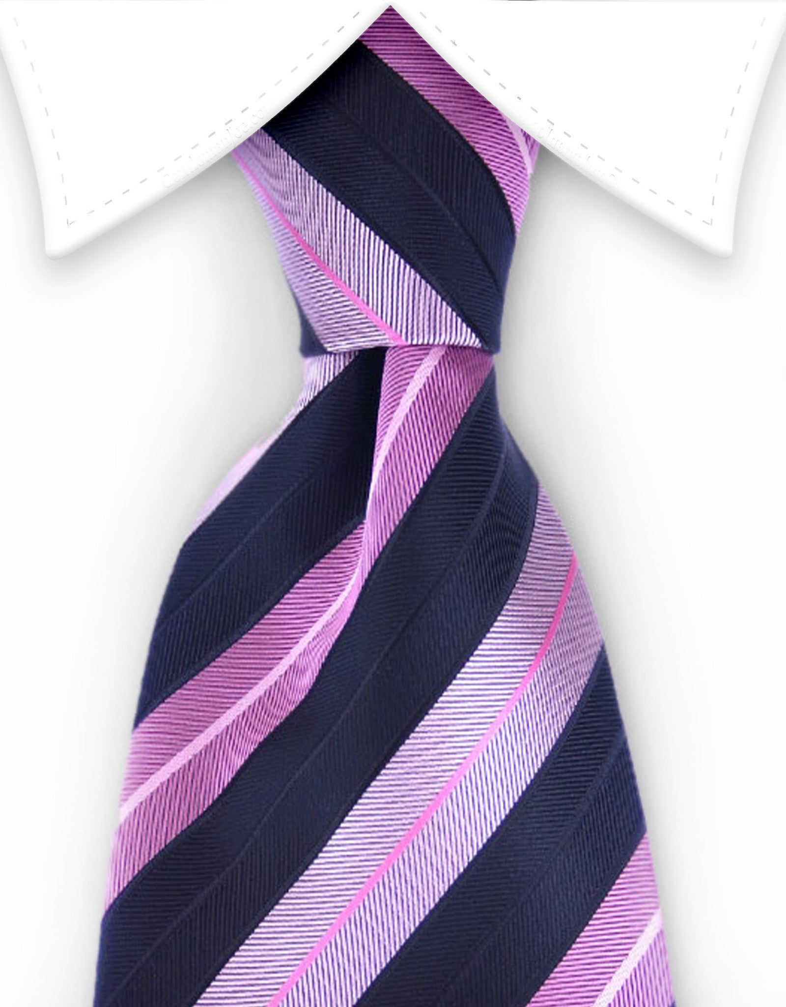 black and pink striped tie