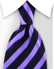 purple and black collegiate tie