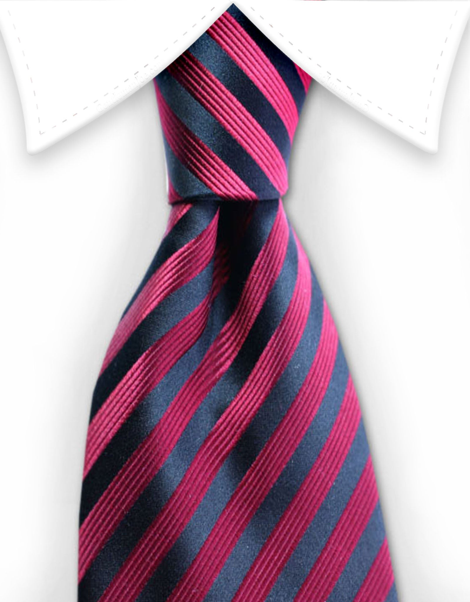Red & Black Extra Long Striped Tie