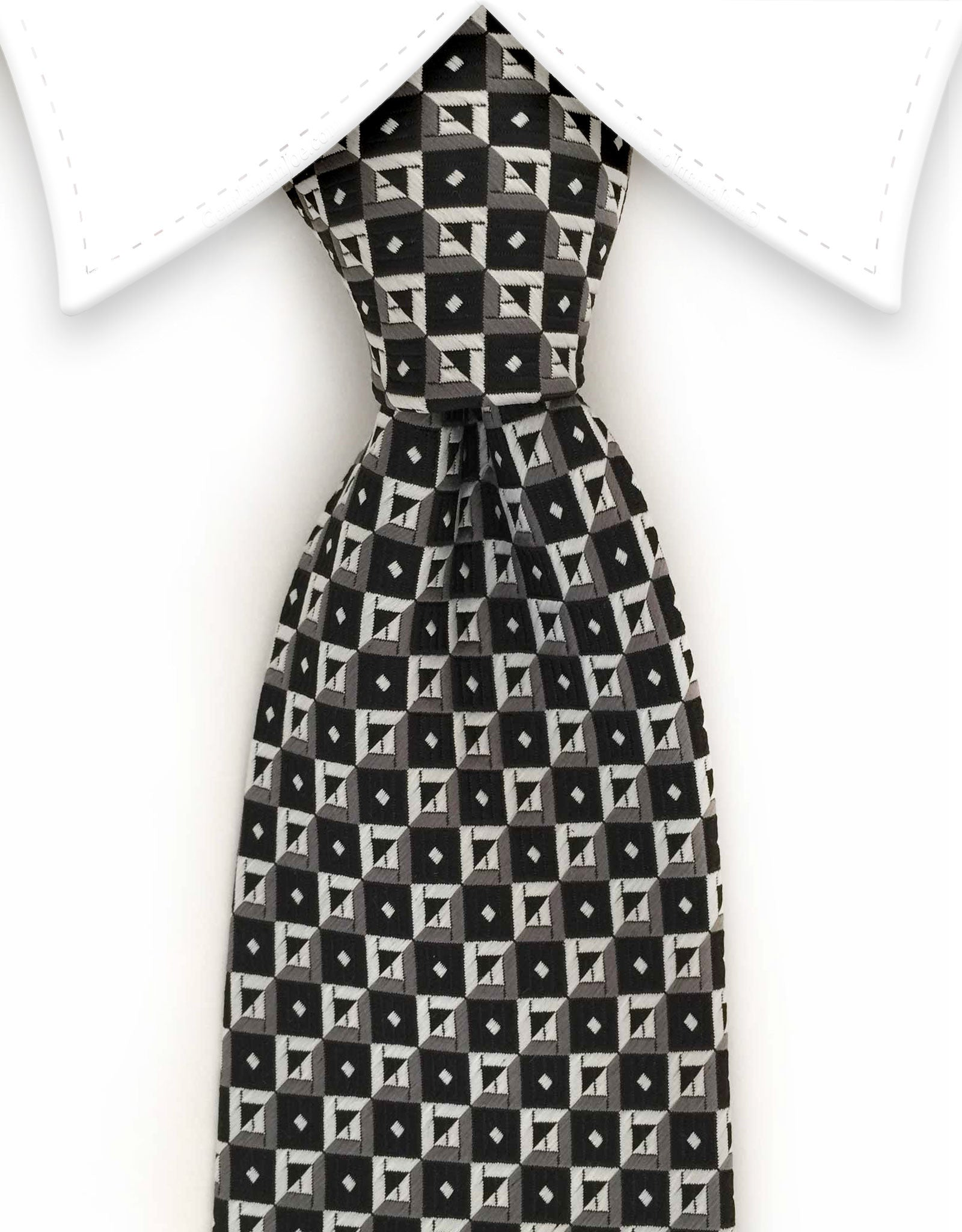 Black, charcoal, silver necktie