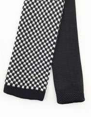 Tip of Black Houndstooth Knit Tie