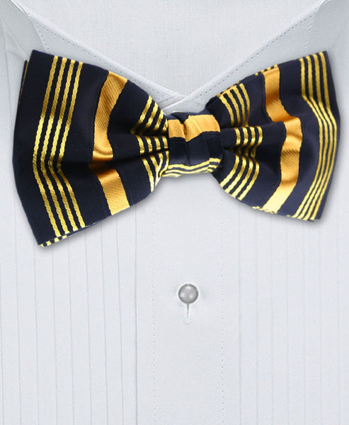 Gold & Black Bow Tie