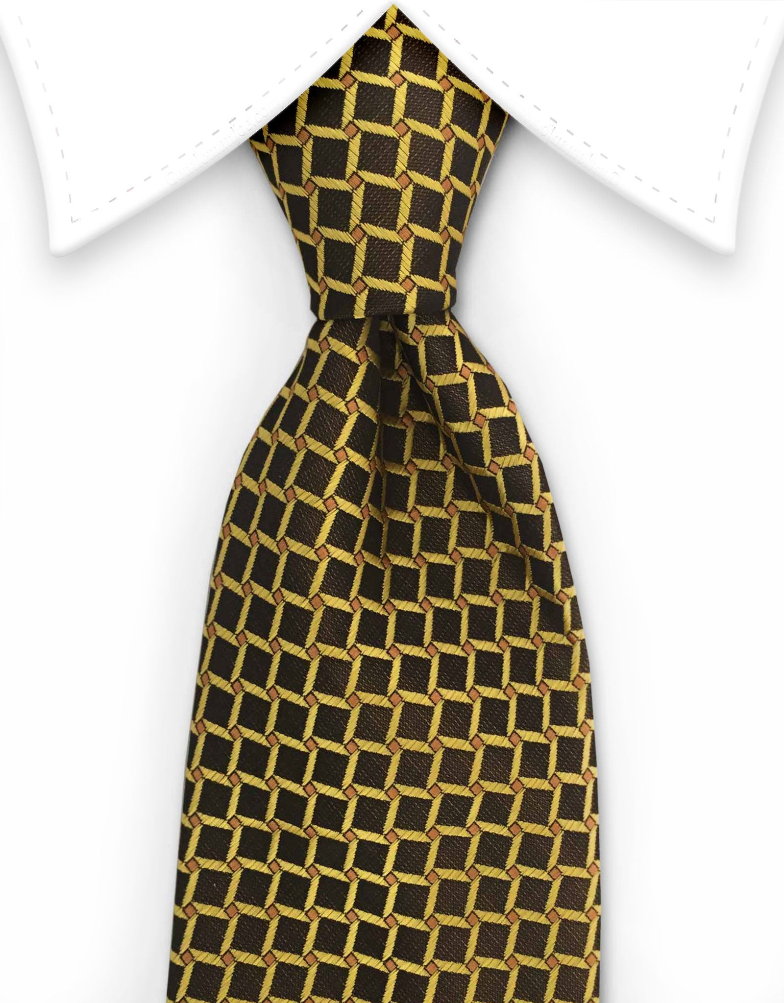 Black Yellow Gold Tie