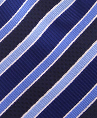 Blue and Black Striped Extra Long Ties