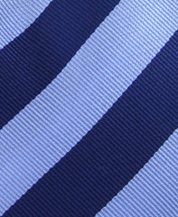 Blue Collegiate Striped Tie