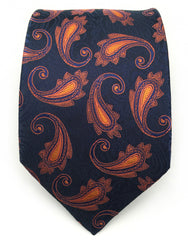 Navy and orange tie