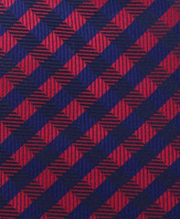 Red & Navy Crisscross Necktie