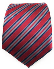 Burgundy red striped tie