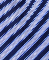 Blue and Silver Striped Necktie