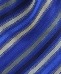 Blue & Platinum Striped Tie