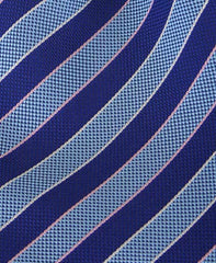 Aqua and Blue Striped Tie