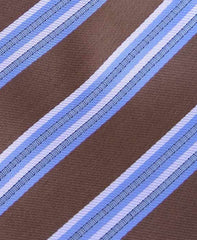 Brown & Blue Striped Necktie