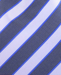 White, Black & Blue Striped Men's Tie