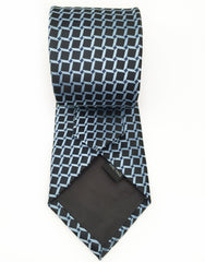 black and sky blue tie