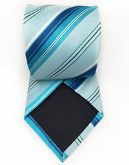 turquoise striped tie