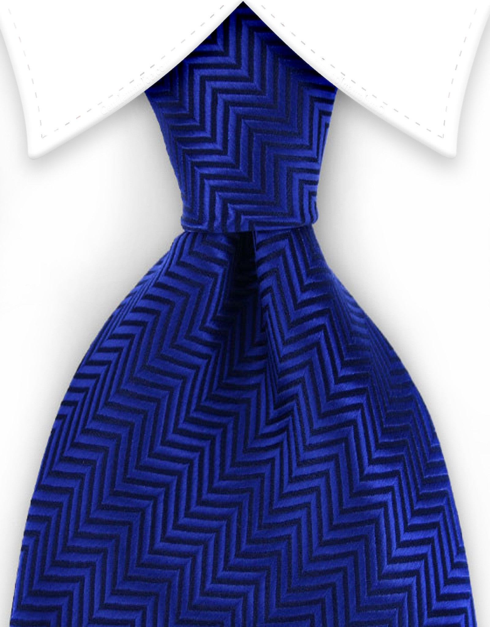 royal blue herringbone tie