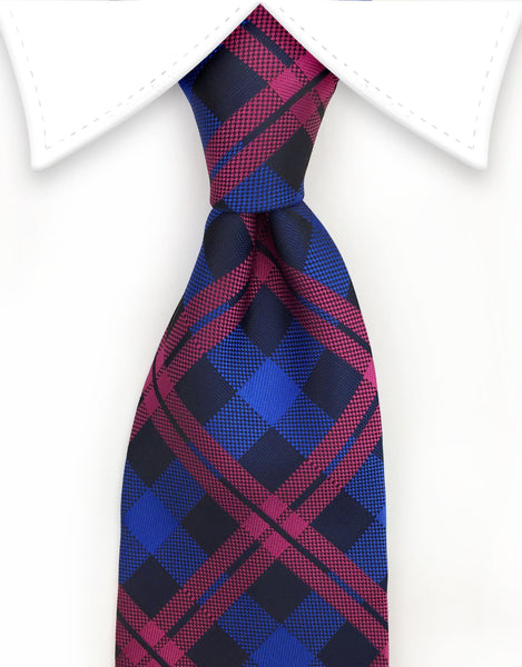 Royal Blue & Pink Tie