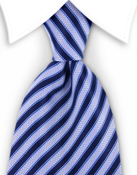 blue and silver tie