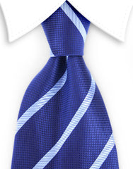 dark & light blue striped tie