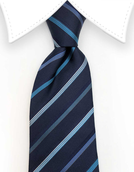 navy blue and turquoise tie