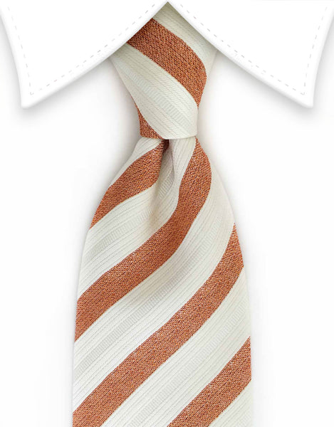 Antique white and bronze tie