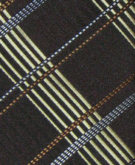 Brown and Gold Plaid Tie