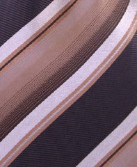 Striped Brown and Tan Tie