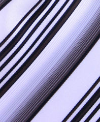 Brown, Silver & White Stripe Tie