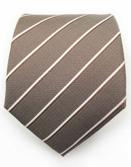 light brown and white striped tie