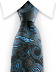 Brown and aqua necktie