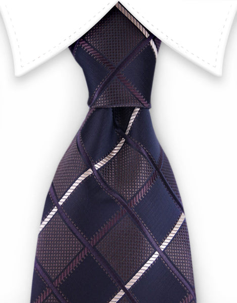 Brown & Black Diamond Necktie