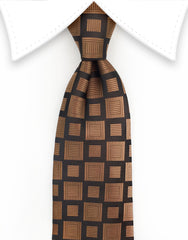 Brown & Black Silk Tie