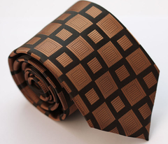 Brown Squares Silk Necktie