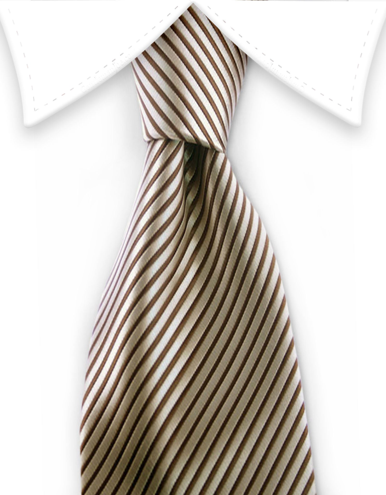 Boy's Brown Striped Tie