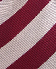 Platinum and Burgundy Collegiate Striped Tie