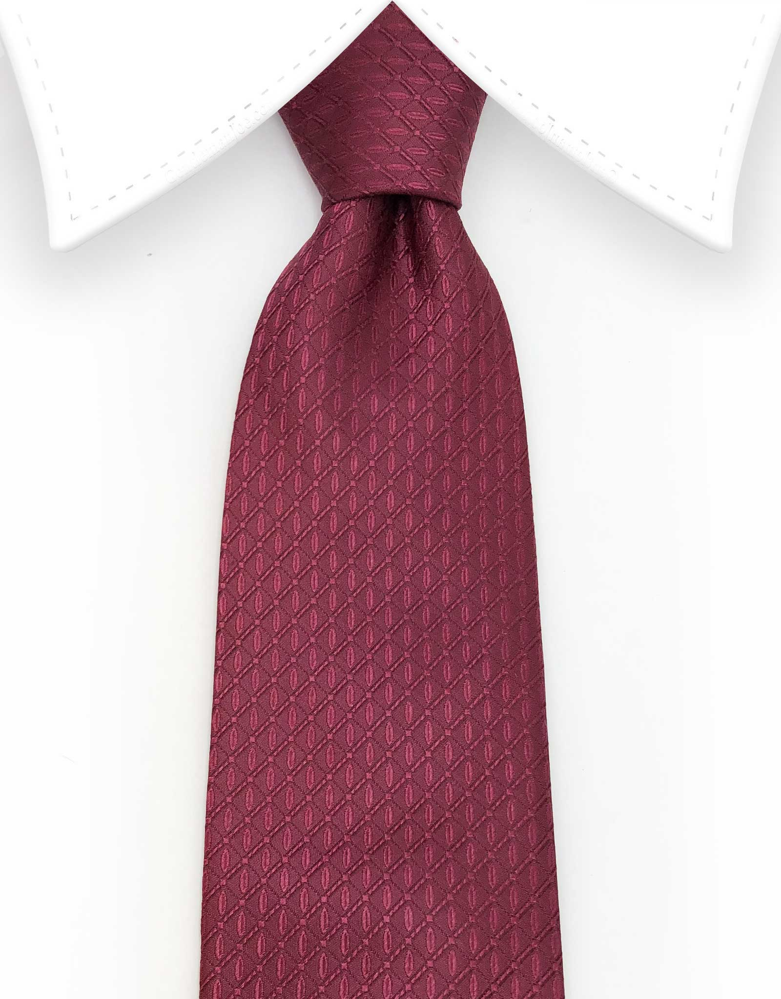 Extra Long 70 inch Burgundy Tie