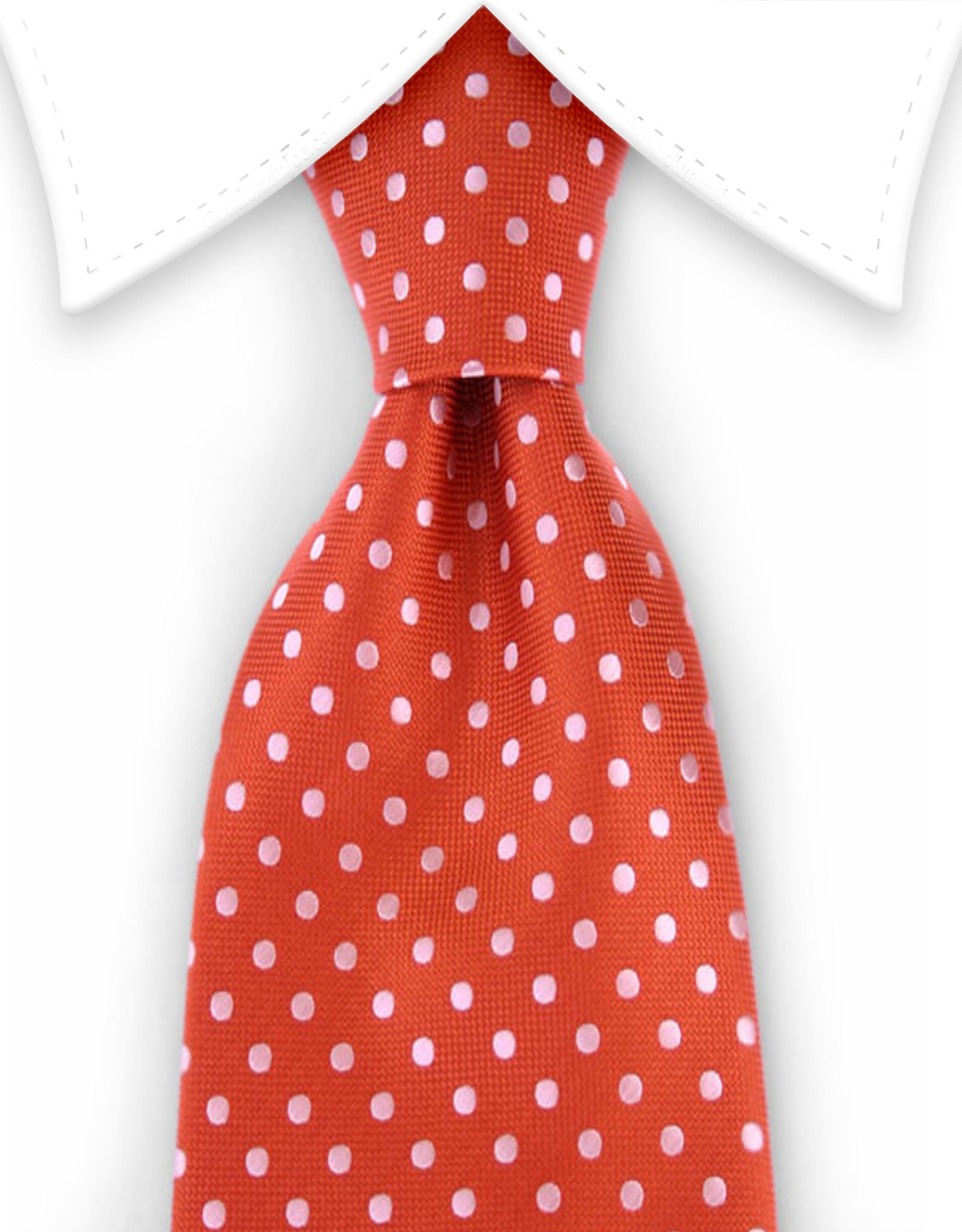 Burnt orange polka dot tie