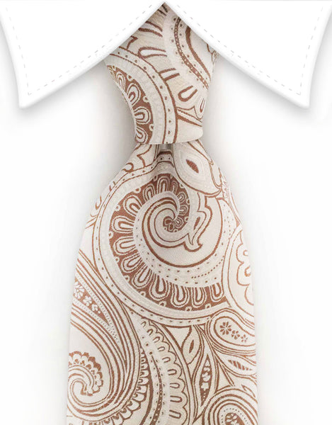 champagne paisley tie
