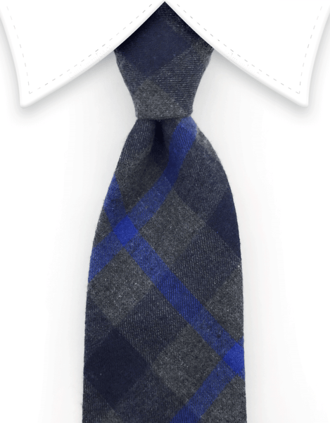 Charcoal & Blue Cotton Tie