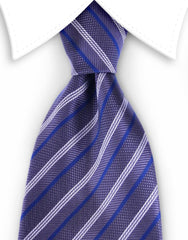 charcoal and blue striped tie