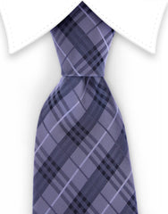 charcoal gray black plaid tie