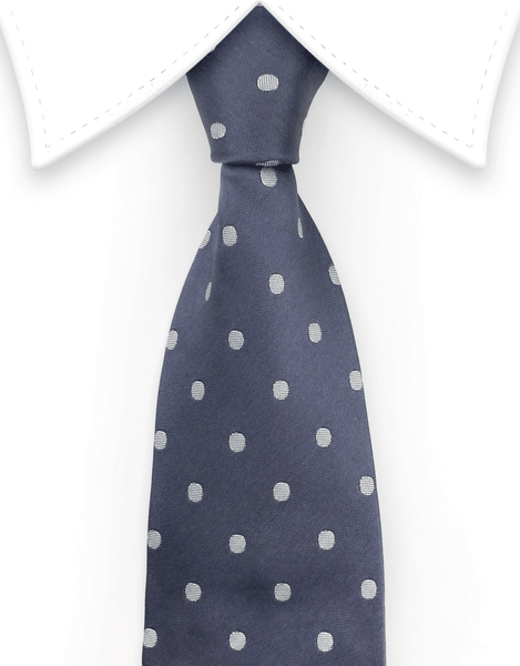 Charcoal Gray Polka Dot Tie