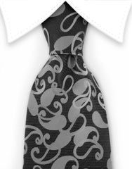 charcoal paisley tie