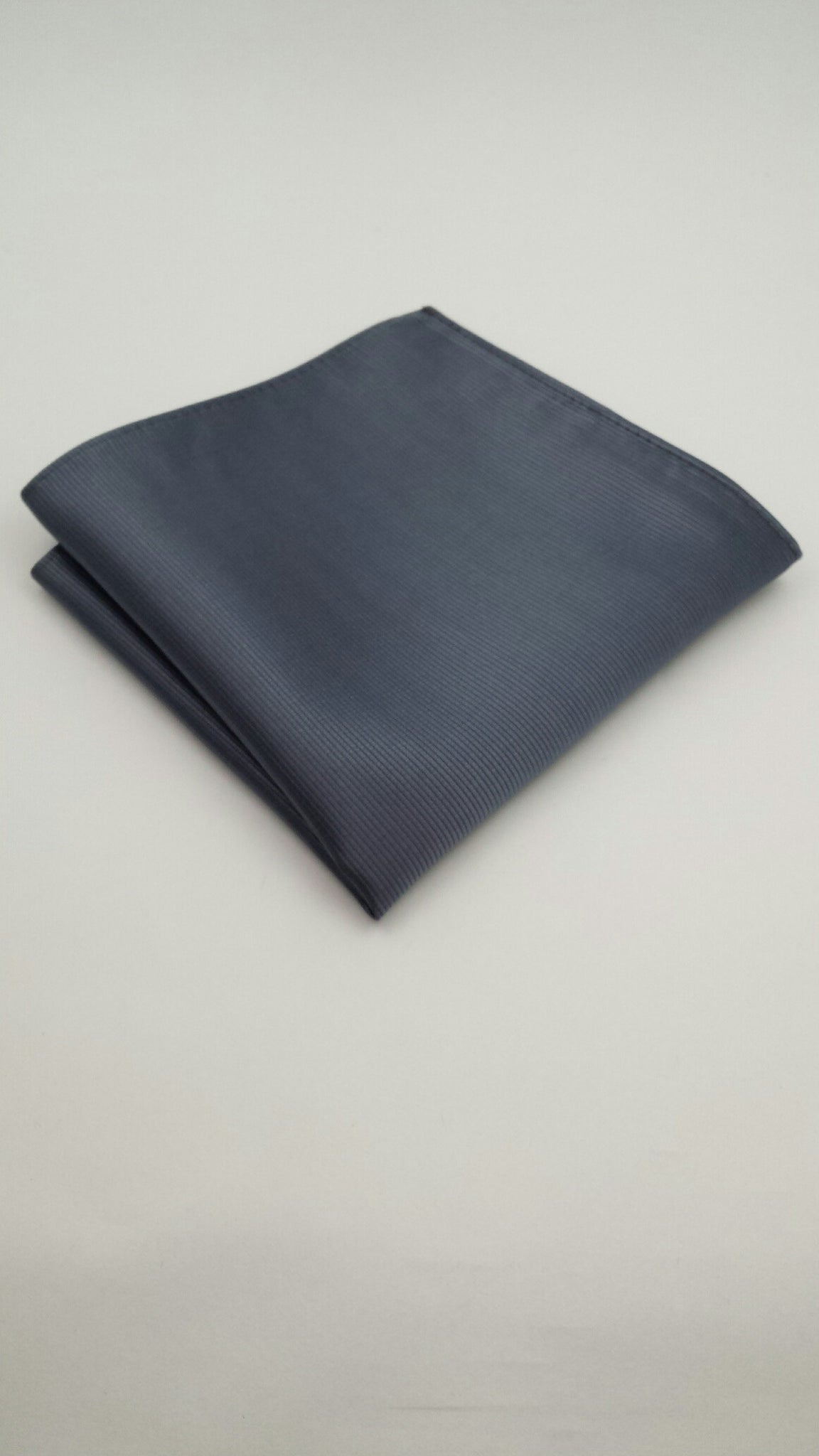 charcoal gray pocket square