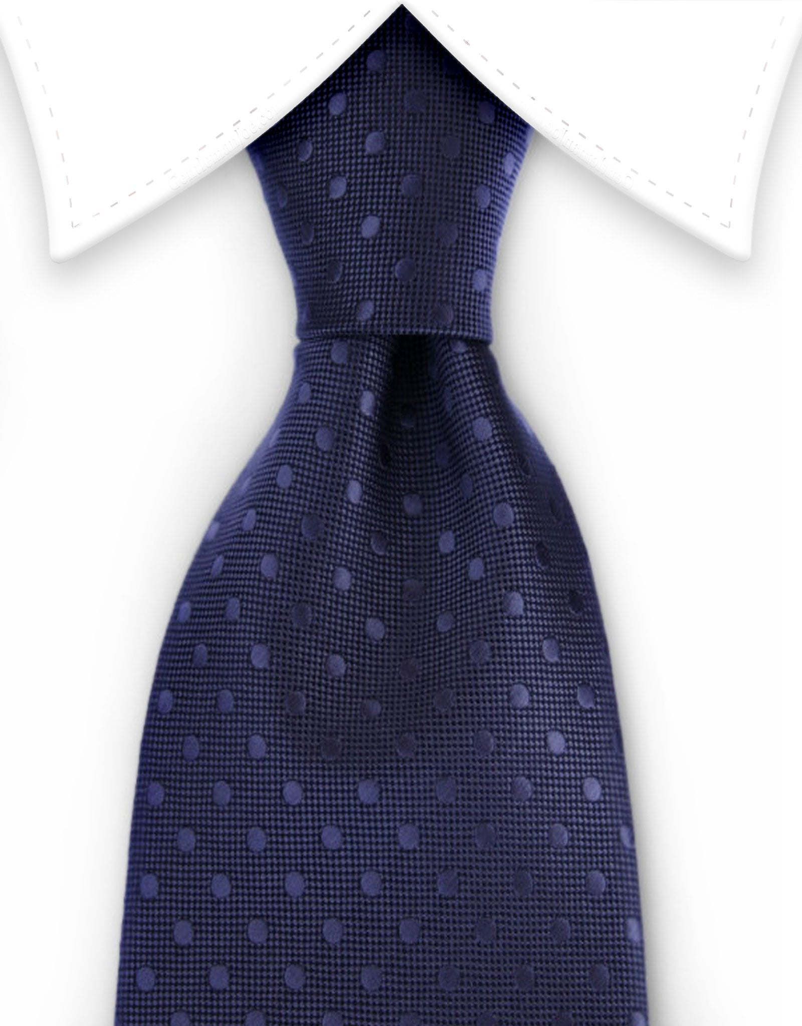 charcoal tie with polka dots